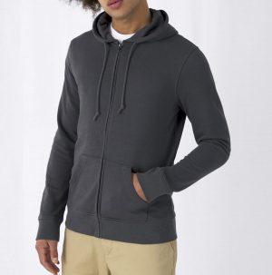 Felpa con zip e cappuccio Organica 🌱 UNISEX